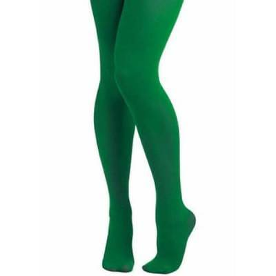 Ladies Green Elf Tights Pixie Christmas Witch Goblin Fancy Dress • 3.15£
