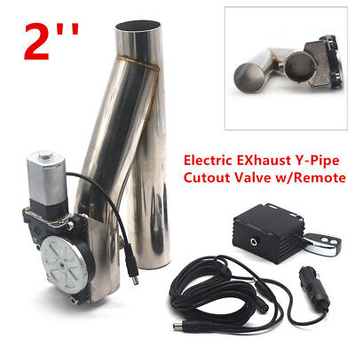 $ CDN143.20 • Buy Universal 2  Motorized Electric EXhaust Y-Pipe Cutout Valve W/ Remote Stainless