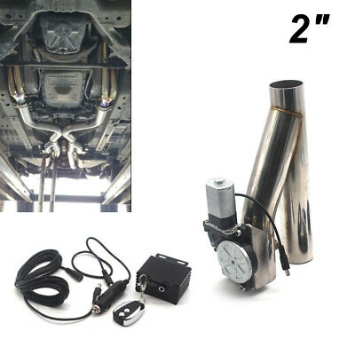 $109.24 • Buy 2  Steel Car Motorized Electric Exhaust Cutoff Bypass Valve Cutout + Remote Kit