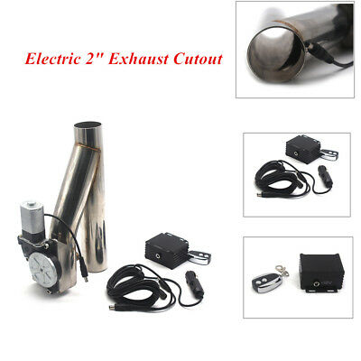 $ CDN158.73 • Buy 2  Wireless Remote Stainless Steel Electric Exhaust Cutoff Bypass Valve DIY Part