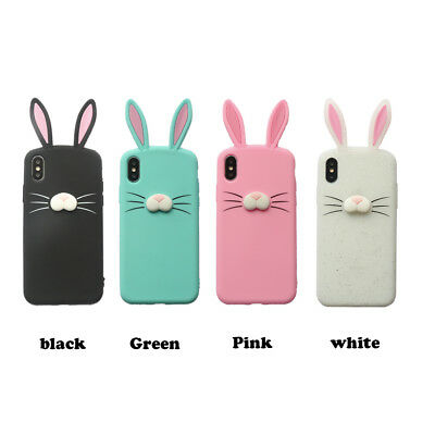 3D Cute Bunny Ears Protection Skin Soft Silicone Case For Iphone XS MAX XR X  • 5.65£