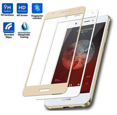 For Huawei P8 P9 P10 Lite Plus Full Cover Tempered Glass Phone Screen Protector • 1.65£