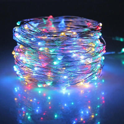 Solar Power Fairy LED Light String Strip Outdoor Battery Copper Wire Room Decor • 10.33$