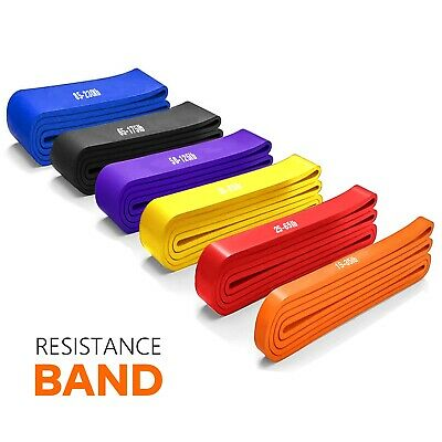 AU14.99 • Buy Resistance Band Heavy Duty Strength Loop Power Gym Fitness Exercise Yoga Workout
