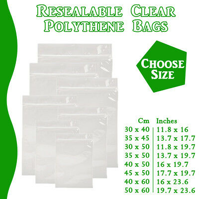 XX Large Grip Seal Zip Lock Polythene Resealable Clear Plastic Bags 1-100,000 • 3.39£