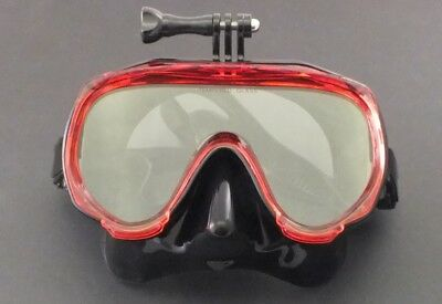 AU29.95 • Buy With GoPro Bracket Silicone Mask For Snorkelling Scuba Diving WIL-DM-32R