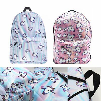 AU31.17 • Buy Unicorn Bags Fantasy Rucksack Backpack Student Schoolbag Girls Travel College BK