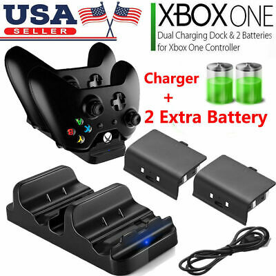 $10.99 • Buy For XBOX ONE Dual Charging Dock Station Controller Charger + 2 Recharged Battery
