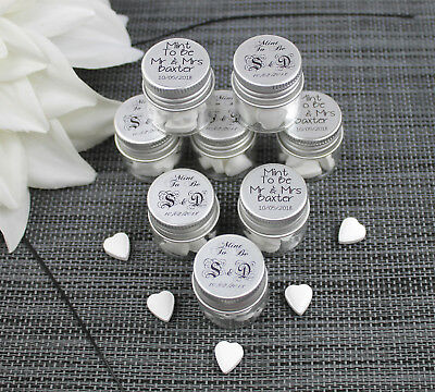 £11.20 • Buy DIY Personalised Favour Sweets Wedding Table Decoration Mint To Be - Glass Jars