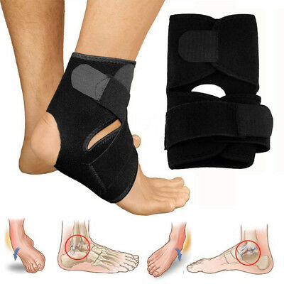 Medical Ankle Support Strap Adjustable Wrap Bandage Brace Foot Pain Relief Sport • 3.38£