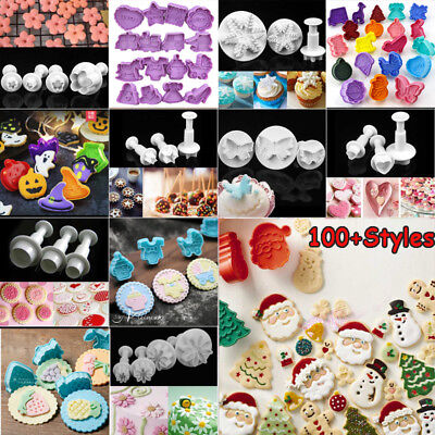 DIY Cookies Plunger Cutter Fondant Cake Decorating Biscuit Sugarcraft Mold Tool • 5.72£