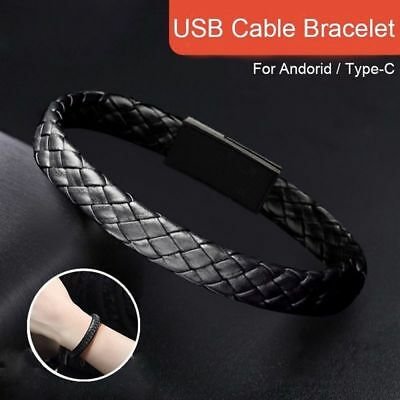 $3.72 • Buy Phone Data Cable Braided Bracelets Bangles For Men Women Punk Usb Charging Cable