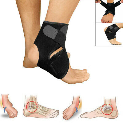£3.95 • Buy Ankle Support Compression Strap Achilles Tendon Brace Foot Sprain Injury Wrap UK