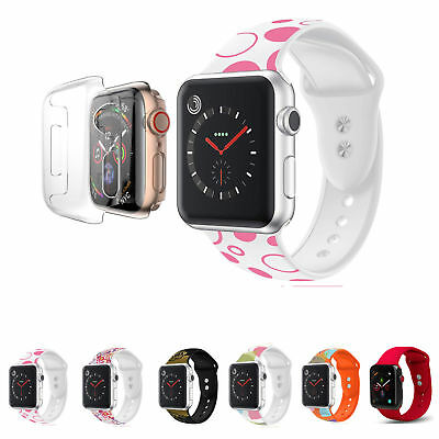 AU19.02 • Buy Apple Watch Silicone Sport Strap Replacement Band + Case Series 4 3 2 1 Nike+