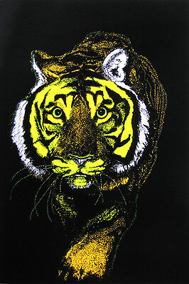 TIGER /& SERPENT   #FL3252S   LP38 N LOT OF 2 POSTERS BLACKLIGHT PSYCHEDELIC