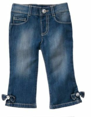 $19.99 • Buy Nwt Gymboree Bee Chic Gem Bow Denim Jeans  Pants Size 2t Adjust Waist