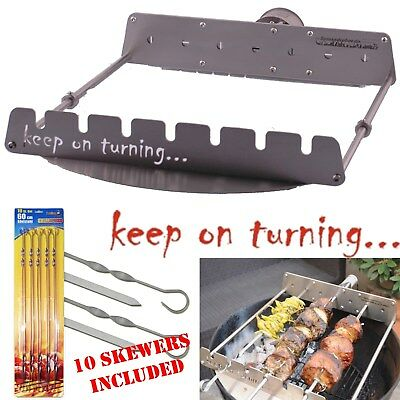 $ CDN289.91 • Buy Motor Operated Rotating Add On Skewer Kit For Weber 22  Charcoal BBQ Grill