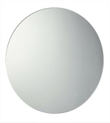 £24.45 • Buy 60cm Circular Round Frameless Glass Bathroom Mirror With Wall Hanging Fixings