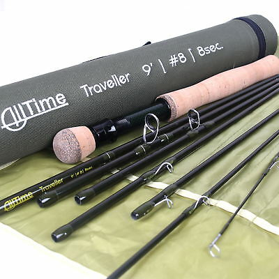 $70 • Buy Alltime Traveller Fly Fishing Rod 9ft 8pcs Fast Action Rod With Cordura Rod Tube