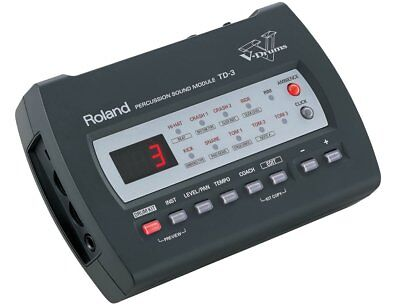 AU198.55 • Buy Roland Td-3 Percussion Sound Module Drum Machine & Power Supply