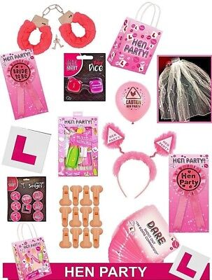 HEN NIGHT DO PARTY ACCESSORIES Sash, Balloons, Head Boppers, Photo Props Ect • 0.99£