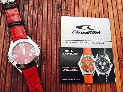 £84.47 • Buy Chronotech DUAL FACE Watch Chronograph And Analog - New And Original Box