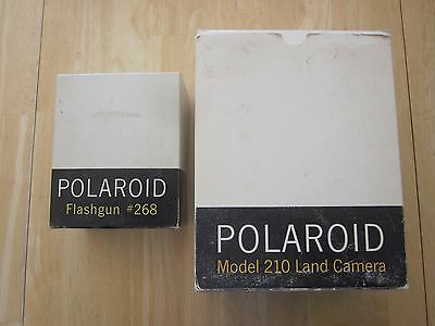 $ CDN18 • Buy Vintage Polaroid Land Camera 210 With Flash 268 - Original Boxes