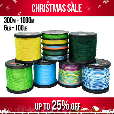 AU16.95 • Buy Braid Fishing Line 8 10 12lb 15 20lb 30lb 40lb 50lb 65 80lb 100lb 150m 300m 500m