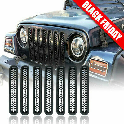$22.29 • Buy Honeycomb Mesh Front Grill Inserts For 1997-2006 Jeep Wrangler TJ Unlimited 7PCS