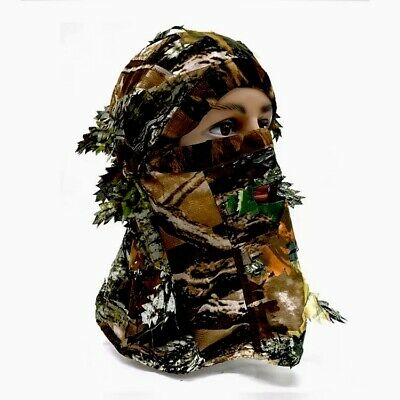 Woodland Camo 3D Camouflage Leaf Ghillie Suit Face Mask Paint Hunting Realtree • 8.99£