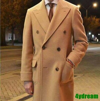 $281.06 • Buy Men 70% Cashmere & 30% Woolen Double-breasted Lapel Trench Coat Peacoat Jackets
