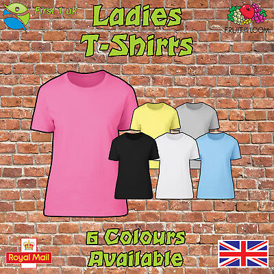 £3.89 • Buy Fruit Of The Loom Ladies T Shirt Womens Tee Shirt Fitted