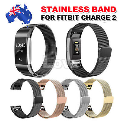 AU8.95 • Buy For Fitbit Charge 2 Band Metal Stainless Steel Milanese Loop Wristband Strap Au