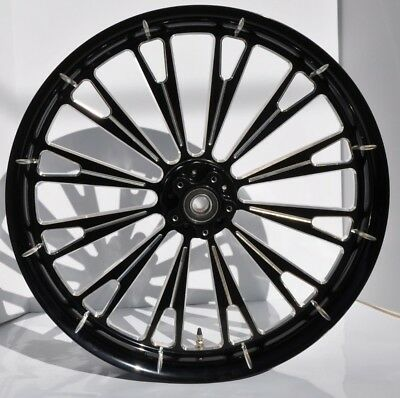 $1325 • Buy 2014-2018 Harley Davidson Road Glide 26  Moster Front Wheel Gloss Black Cut