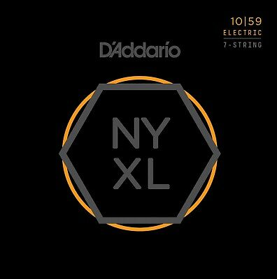 AU20.58 • Buy D'Addario NYXL 7-String 10-59 Regular Light Electric Guitar Strings NYXL1059