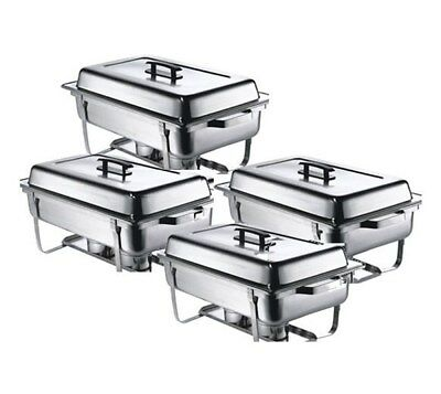 £104.99 • Buy Four Pack Chafing Dish Pack Set. 4 X 1-1 GN Chafers - FREE P & P - LOW UK Price