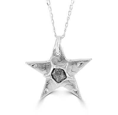Large Silver Star Meteorite Necklace - With Real Iron Meteorite • 60£