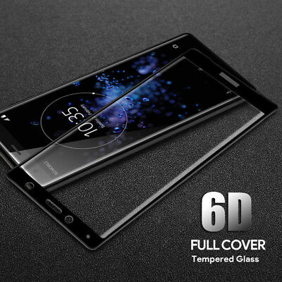 AU4.26 • Buy 6D Curved Tempered Glass Screen Protector For Sony Xperia XA1 XA2 XZ3 XZ Premium