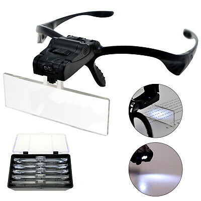 Led Head Magnifying Glasses Headset With Light Hands Free Headband Magnifier • 9.39£
