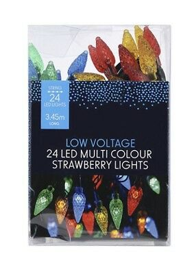 AU19.40 • Buy Bnib Low Voltage 24 Led Multi Colour Strawberry Party Lights Unwanted Gift 🎁