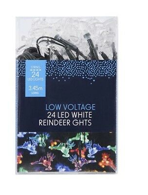 AU9.50 • Buy Bnib Low Voltage 24 Led Multi Colour Reinfeer Party Lights Unwanted Gift 🎁