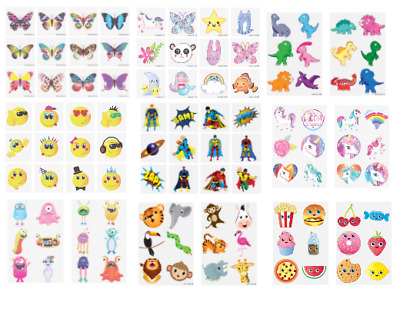 £1.29 • Buy 12 Kids TEMPORARY TATTOOS Assorted Designs Boys Girls Party Loot Bag Fillers