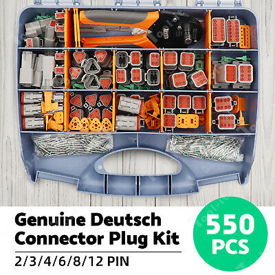 AU161 • Buy AU Deutsch DT Connector Plug Kit 410pcs With Crimp Tool Automotive #DT-KIT3-TR