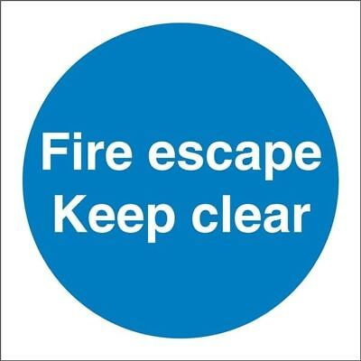 New Castle Promotions Fire Escape Keep Clear Sign Vinyl 100mm X 100mm Ss007sa • 5.18£