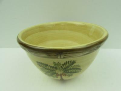 $8.40 • Buy West Palm By Home Trends Cereal Bowl Palm Tree Bamboo Border B44