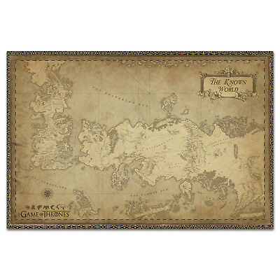 £12.03 • Buy Game Of Thrones Poster - Westeros Map - Exclusive Design