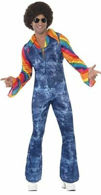 GROOVIER DANCER JUMPSUIT MEDIUM Male Seventies Disco Fancy Dress Outfit • 29.95£