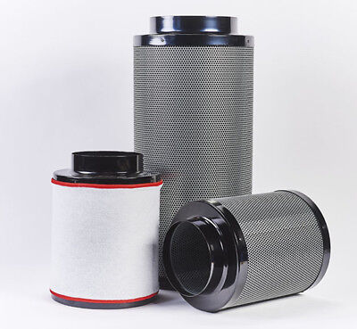 Hydroponics Fox Carbon Filter 6  Inch 150 / 1000mm Grow Room Odour Control • 169£