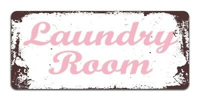 Vintage LAUNDRY ROOM Washing Machine Clothes Kitchen Retro Metal Wall Door Sign  • 4.99£