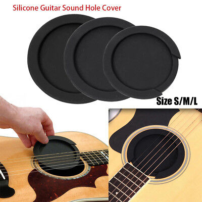 £3.89 • Buy Guitar Parts Buffer Block Silicone Acoustic Feedback Buster Sound Hole Cover